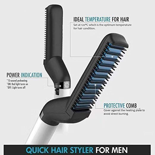 beard struggle heated brush