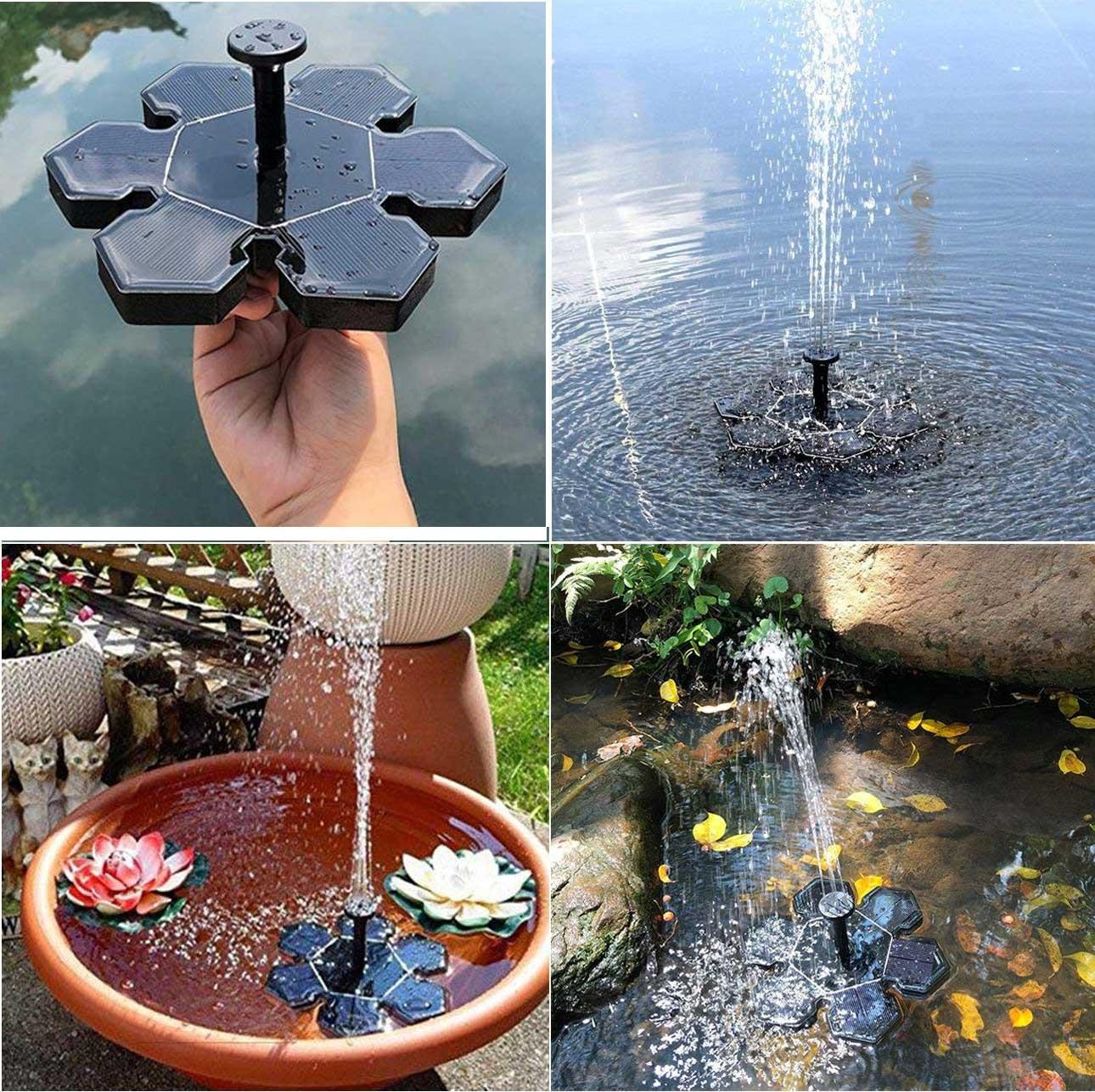 1.5w outdoor solar fountain pump