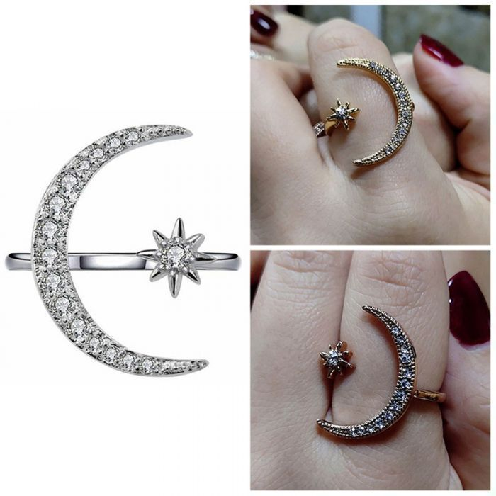 moon and star engagement ring