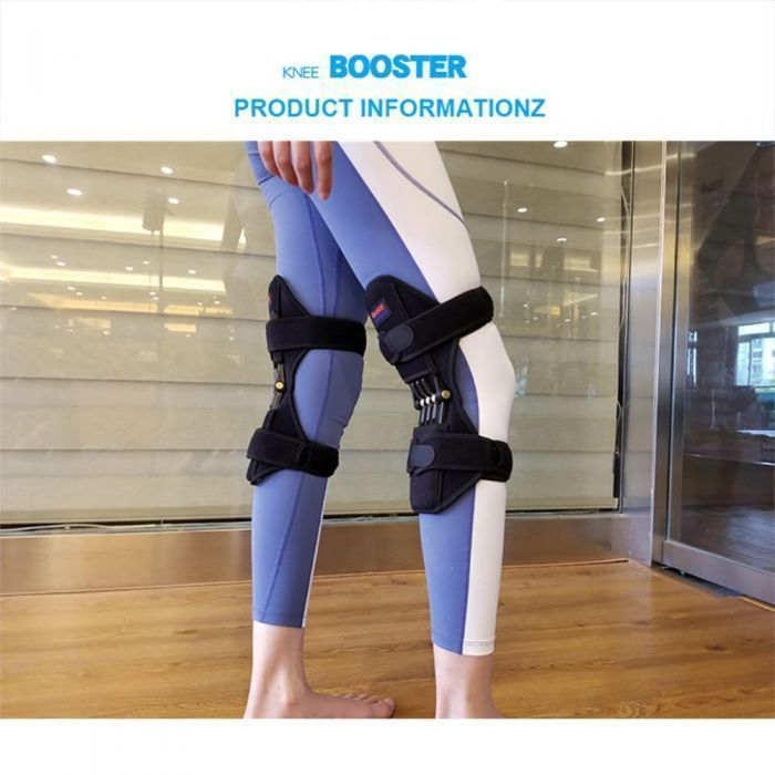 a woman execising using the knee booster