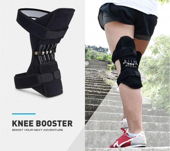 a man execising with the knee booster